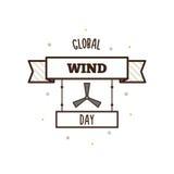 Globale Winddag Vector illustratie Stock Foto's