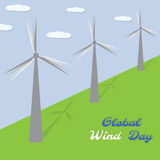 Globale Winddag Vector illustratie Royalty-vrije Stock Fotografie