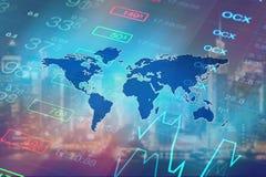 Globale Wirtschaft, Finanzhintergrund Stockfotos