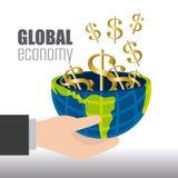 Globale Wirtschaft, Geld und Geschäft Stockfoto