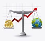 Globale Wirtschaft, Geld und Geschäft Stockbilder