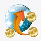Globale Wirtschaft, Geld und Geschäft Stockfotos