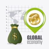 Globale Wirtschaft, Geld und Geschäft Lizenzfreie Stockfotos