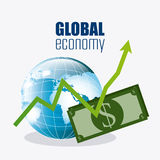 Globale Wirtschaft, Geld und Geschäft Lizenzfreies Stockbild