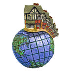Globale woningmarkten Royalty-vrije Stock Foto