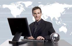 Globale zaken exec royalty-vrije stock afbeelding