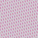 Globale ZusammenarbeitsBrustkrebs-Bewusstseinskonzeptillustration Nahtloser Musterhintergrund gemacht von den Bandsymbolen Brust- lizenzfreie abbildung