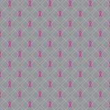 Globale ZusammenarbeitsBrustkrebs-Bewusstseinskonzeptillustration Nahtloser Musterhintergrund gemacht von den Bandsymbolen Brust- vektor abbildung