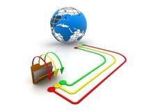 Globaler Datei-Anteil Lizenzfreies Stockbild