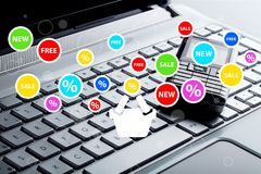 Globaler elektronischer Geschäftsverkehr Lizenzfreie Stockfotos