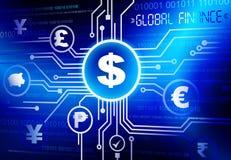 Globaler Finanzvektor Stockfotografie