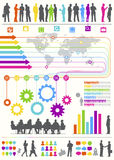 Globaler Geschäftskommunikations-Vektor Stockbild