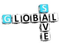 globaler Geschäftstext des kreuzworträtsels 3D Lizenzfreies Stockbild