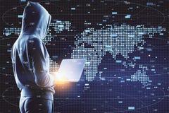 Globaler Handel und kriminelles Konzept lizenzfreie stockfotos