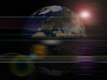 Globaler Hintergrundserien Erdeplanet Stockfoto