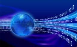 Globaler Informationsfluss stock abbildung