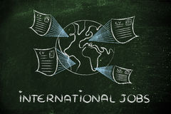 Globaler internationaler Rekrutierungsprozess Stockfotografie