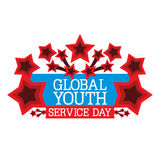 Globaler Jugend-Service-Tag Stockfotos