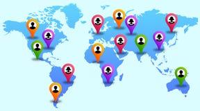 Globaler Kontakt Lizenzfreies Stockbild