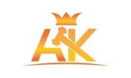 Globaler on-line-Auktions-Buchstabe AK Lizenzfreie Stockfotos
