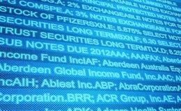 Globaler Markt-Schirm Stockfotos