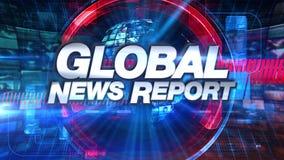 Globaler Nachrichtenreport - Sendungs-Animations-grafischer Titel vektor abbildung
