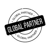 Globaler Partnerstempel Stockbild
