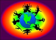 Globaler Tanz lizenzfreie abbildung