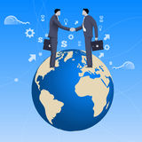 Globales Abkommengeschäftskonzept Lizenzfreies Stockfoto