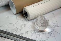 Globales Architektur-Konzept Stockbild