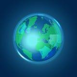 Globales Blau Stockbild