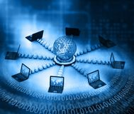 Globales Computernetz Lizenzfreie Stockfotos