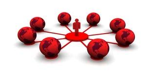 Globales Computernetz Stockfotos