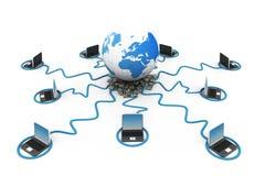 Globales Computernetz Lizenzfreies Stockbild