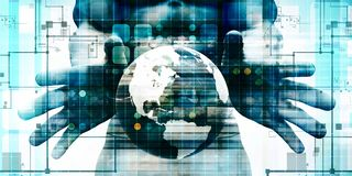 Globales Digitaltechnikkonzept stock abbildung