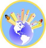 Globales Dorf Stockfoto