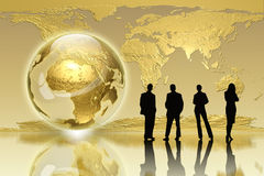 Globales Erzeugung - Geschäftsausgabe Stockfoto