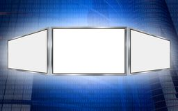 Globales Exemplar-Platz-Technologiekonzept des Bildschirms 3d Lizenzfreie Stockfotos
