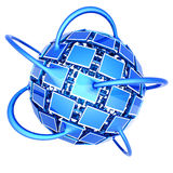Globales Fernsehnetz Lizenzfreies Stockbild