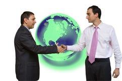 Globales Finanzabkommen Stockbild
