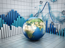 Globales Finanzkonzept Lizenzfreies Stockbild