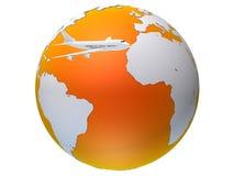 Globales Flugzeug Stockfotografie
