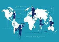 Globales Geschäft lizenzfreie abbildung