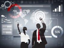 Globales Geschäft, das Vektor analysiert Lizenzfreie Stockfotos