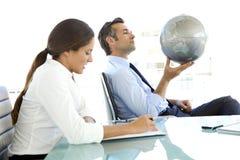 Globales Geschäft ist über Vision Lizenzfreies Stockbild