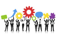 Globales Geschäft Team Teamwork Occupation Concept Lizenzfreie Stockbilder