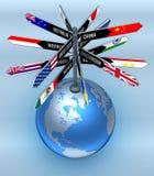 Globales Geschäft und Tourismus Stockbild