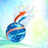 Globales Geschäfts-Broschüre-Auslegung Lizenzfreie Stockbilder