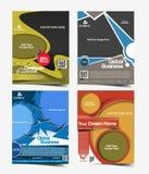 Globales Geschäfts-Flieger-Design Stockfotos