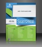 Globales Geschäfts-Flieger-Design Lizenzfreie Stockbilder